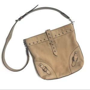 Rebecca Minkoff suede studded crossbody purse